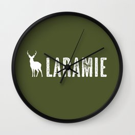 Deer: Laramie, Wyoming Wall Clock