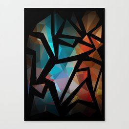 Abstract background of triangles polygon print. Canvas Print