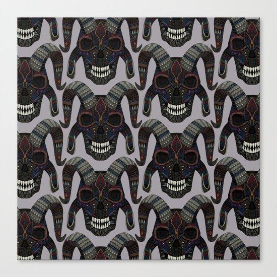 demon skull heather Canvas Print