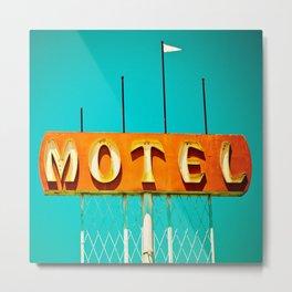 Frontage Motel Metal Print
