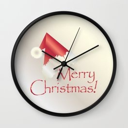 White gold Christmas Wall Clock