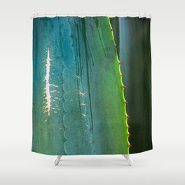 Scarred Succulent Shower Curtain