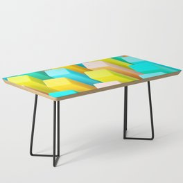 Color Blocking Pastels Coffee Table