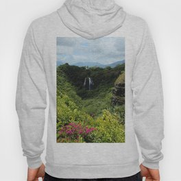Mountain waterfalls and floral Hoody