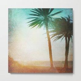 Sunset Palms Metal Print