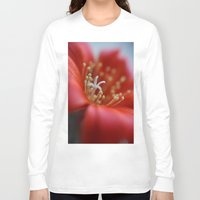 cacti Long Sleeve T-shirts featuring Cacti Flower by Brian Raggatt