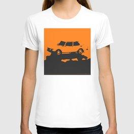 Saab 99 EMS, Orange on Black T-shirt