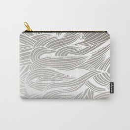 Silver & White Carry-All Pouch