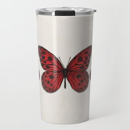 Red butterfly. Big butterfly. Insect Travel Mug