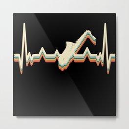 Heartbeat EKG Theater Musical Opera Saxophone Metal Print