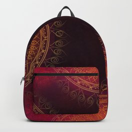 """Scarlet & Gold Mandala Deluxe"" Backpack"
