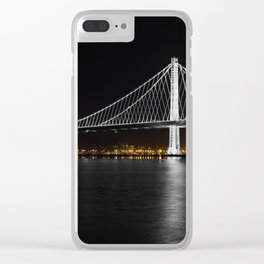 Bay Bridge at Night Clear iPhone Case