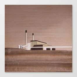 Cockenzie Power Station | Marquetry Canvas Print