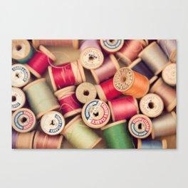 vintage spools Canvas Print