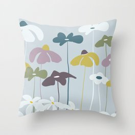 Maggiorie wild flowers Throw Pillow
