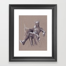 Party Dad Framed Art Print