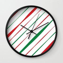 Christmas Stripes Wall Clock