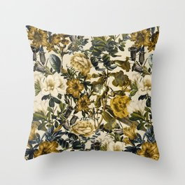 Warm Winter Garden Throw Pillow