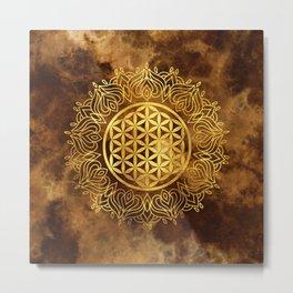 Flower Of Life (Earthy) Metal Print