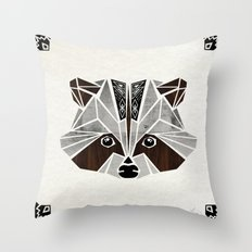 raccoon! Throw Pillow