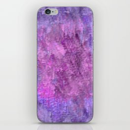 Pink and purple rough texture iPhone Skin