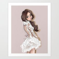 Selena in Marchesa 2014 Art Print
