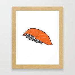 Salmon Nigiri Framed Art Print