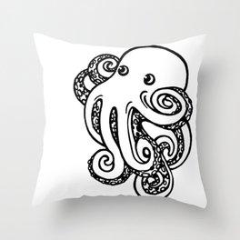 power pose octopus Throw Pillow