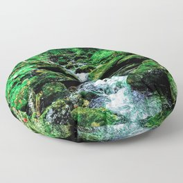 Falling Stream Floor Pillow