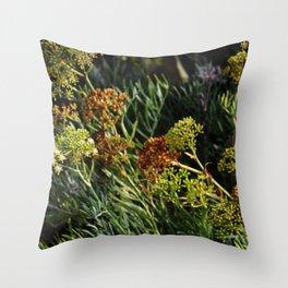 flowering wild plants Throw Pillow