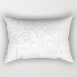 Abstract Map of UC Berkeley Campus Rectangular Pillow