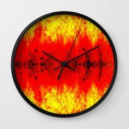 Intense color abstract Wall Clock