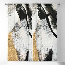 Armor [9]: a minimal abstract piece in black white and gold by Alyssa Hamilton Art Blackout Curtain