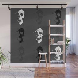 Skull 3x3 - White/Grey/Black Wall Mural