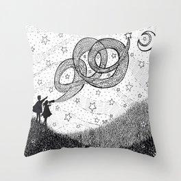 Bottling Starlight Throw Pillow