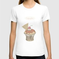cupcakes T-shirts featuring Cupcakes by Cecilia Sánchez