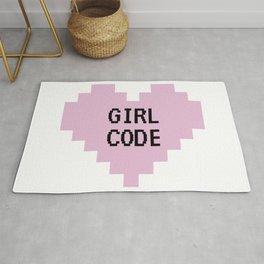 GIRL CODE Rug