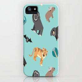 ASIAN JUNGLE ANIMALS PATTERN iPhone Case