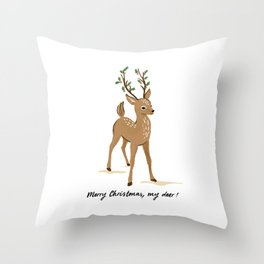 Merry Christmas my deer Throw Pillow