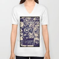 comic V-neck T-shirts featuring Comic Land by Ewan Arnolda