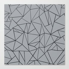Ab Dotted Lines B on Grey Canvas Print