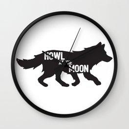 Howl at the moon Wall Clock