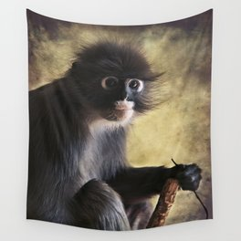 Spectacled Langur Wall Tapestry