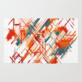 Abstract Red River Rug