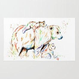 Bear Family - and then there were 3 Rug
