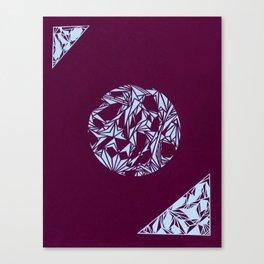 Sector (Maroon) Canvas Print