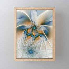 Soaring, Abstract Fractal Art Framed Mini Art Print