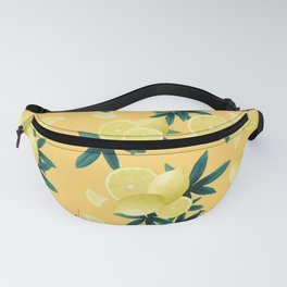 Lemon Twist Vibes #3 #tropical #fruit #decor #art #society6 Fanny Pack
