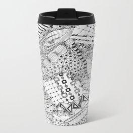 Zendoodle for Bonnie: Original Doodle Art with Tangle Patterns Metal Travel Mug