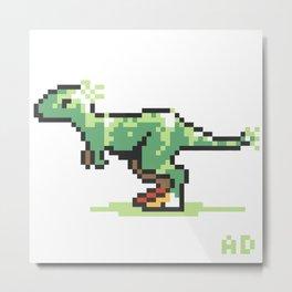 8-Bit T-Rex Metal Print